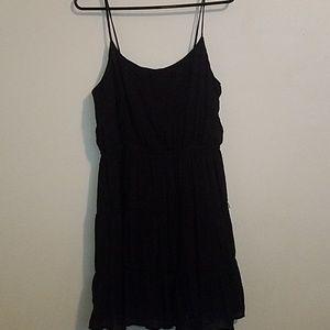 Black spaghetti-strap dress